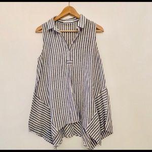 Modcloth collared sleeveless blouse.
